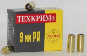 """патрон травматический """"Техкрим"""" норма, 9 мм."""