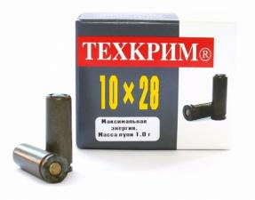 Патрон травматический Техкрим, к. 10х28 мм., 1 гр., 10 мм., Р.П.