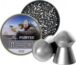 пуля пневматическая Borner, к. 4,5 мм., Pointed-0.58 гр. (500 шт.)