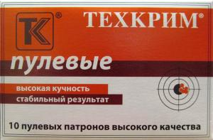 "Патрон к.12 ""Техкрим"" пуля СТОППЕР 2 резиновые пули"