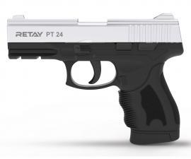 Пистолет охол. РТ24,(Taurus),full-auto,Никель,к.9мм.Р.К