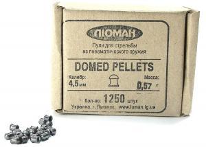 Пуля пневматическая Люман, к. 4,5 мм., Domed Pellets - 0.57 гр. (1250 шт.)